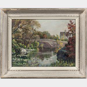Jacob I. Greenleaf (American, 1887-1968)      Water Lilies