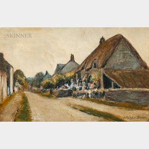 William Staples Drown (American, 1856-1915)      Cottage Lane