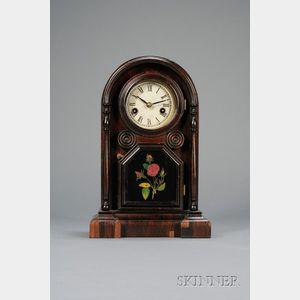 "Miniature ""Italian"" Rosewood Shelf Clock by Welch, Spring & Company"