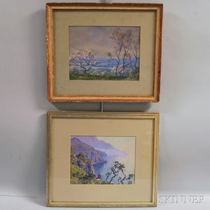 Hezekiah Anthony Dyer (American, 1872-1943)      Two Shore Views: In Abbot Run