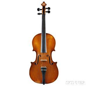 French Violin, Justin Derazey Workshop, Mirecourt, c. 1900
