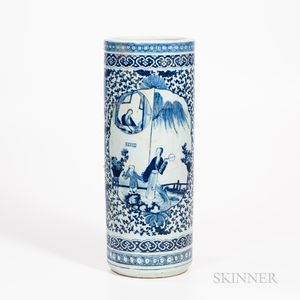 Blue and White Export Umbrella Stand