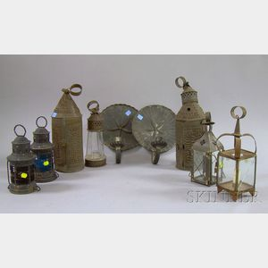 Nine Assorted Early Lighting Devices