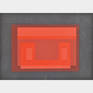 Josef Albers (American/German, 1888-1976)      Lot of Three Images from TEN VARIANTS,   Variant VII, Variant IX