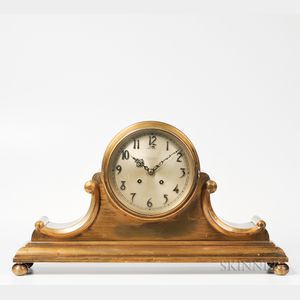 "Chelsea ""Tambour No. 5"" Brass Mantel Clock"