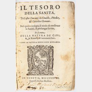 Castore, Durante (1529-1590) Il Tesoro della Sanita.