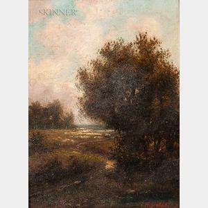 John Henry Dolph (American, 1835-1903)      Landscape