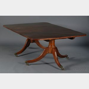 George III Mahogany Two-Pedestal Dining Table