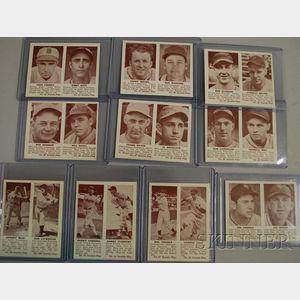 Ten 1941 Double Play Baseball Cards