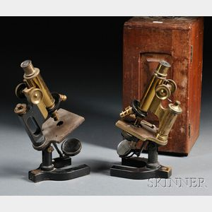 Two Bausch & Lomb Brass Microscopes