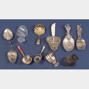 Nine Silver Tea Caddy Spoons