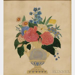 American School, 19th Century    Theorem: Flowers in a Vase.