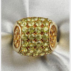 18kt Gold Gem-set Ring