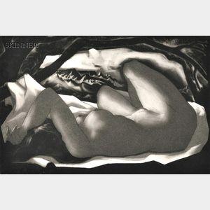 Doel Reed (American, 1895-1985)      Figure in Landscape