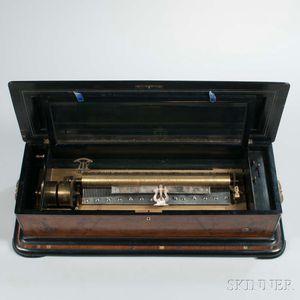 Lever-wind Twelve-air Cylinder Music Box