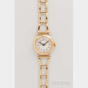 Tiffany & Co. New York 18kt Gold Lady's Wristwatch by Movado