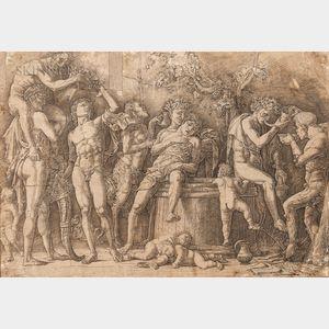Andrea Mantegna (Italian, 1431-1506)      Bacchanal with a Wine Vat