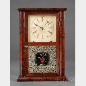 Mahogany Shelf Clock by Chauncey Goodrich