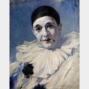 Eric L. (Frederic) Pape (American, 1870-1938)      Portrait of a Clown