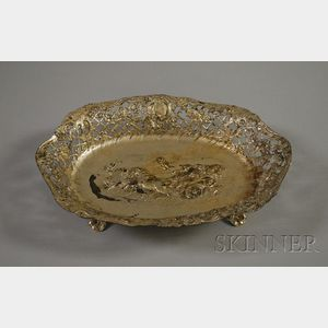 German Reticulated Silver Plated Bowl