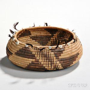 Pomo Coiled Gift Basket