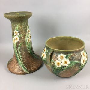 Roseville Ceramic Jardiniere and Stand
