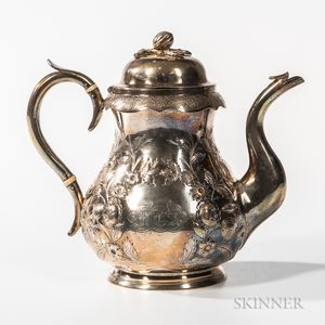 Jones, Ball & Poor Coin Silver Teapot