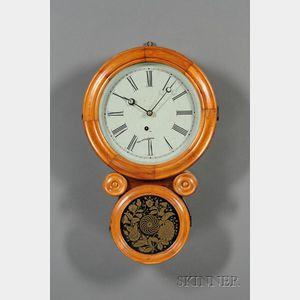 """Mahogany """"Ionic"""" Wall Clock by E. Ingraham"""