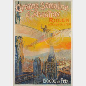 Charles Rambert (French, 1867-1932)      Grande Semaine d'Aviation