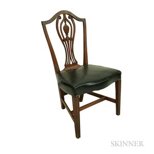 Federal Mahogany Carved Shield-back Side Chair