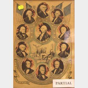 Four Framed Currier Prints