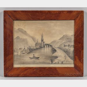 American School, 19th Century      Imaginary Landscape