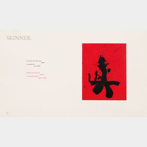 Robert Motherwell (American, 1915-1991)      Red Samurai