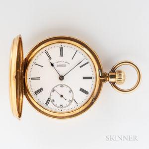 A. Lange & Sohne Glashutte B/Dresden 18kt Gold Hunter-case Watch and Associated Box