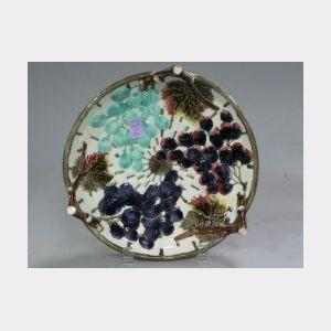 Wedgwood Berry Majolica Low Bowl.
