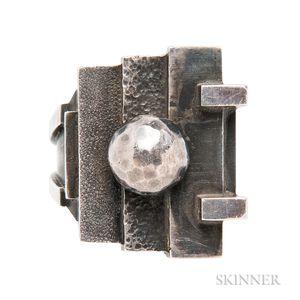 Art Moderne Silver Ring, Jean Despres