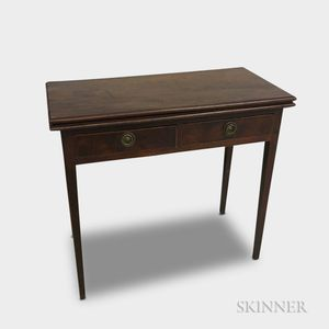 Federal Inlaid Mahogany Two-drawer Card Table