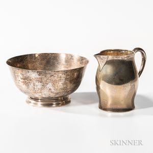 Two Pieces of American Sterling Silver Tableware