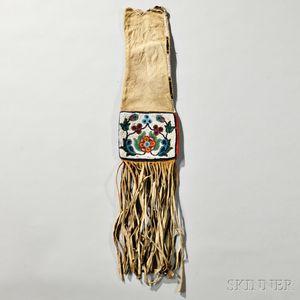 Plains Cree Buffalo Hide Pipe Bag
