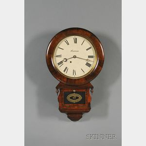 """Rosewood """"Drop Extra"""" Wall Clock by Ansonia"""