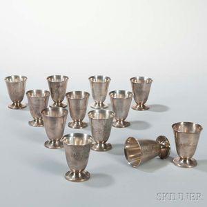 Twelve Silver Cordials