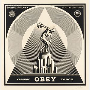 Shepard Fairey (American, b. 1970)      Classic Discs