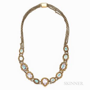 Antique Paste and Gold Necklace