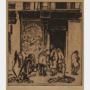 Max Pollak (Czech/Austrian, 1886-c. 1970)      New York, Devision   [sic  ] Street