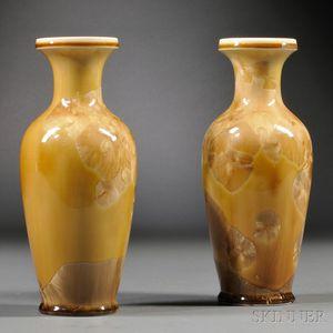 Pair of Crystalline-glazed Vases