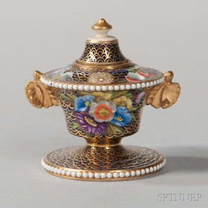 Spode Porcelain Inkstand and Cover