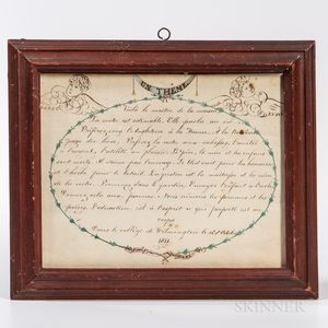 Framed Pen and Watercolor Theme in French