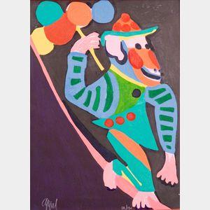 Karel Appel (Dutch, 1921-2006)    Monkey with Balloons