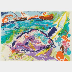 Malcolm Morley (British, b. 1931)      Wind Surfers