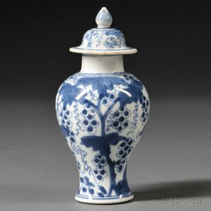 Blue and White Miniature Covered Jar